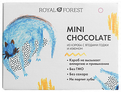 Шоколад мини из кэроба с годжи и изюмом Royal Forest 30г