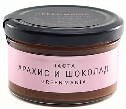 Паста Арахис и шоколад GreenMania 300г